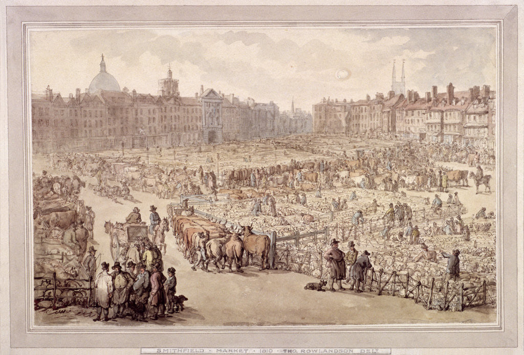 Detail of View of Smithfield Market, London by Anonymous