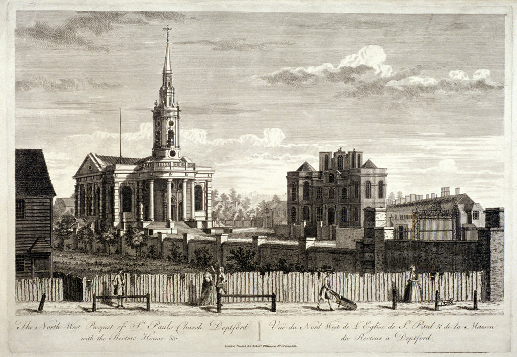 Detail of North west view of St Paul's, Deptford, London by Anonymous