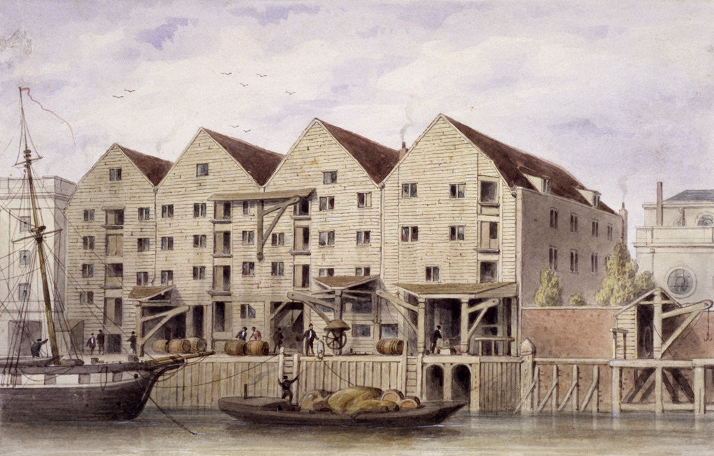 Detail of View of Chamberlain's Wharf, Tooley Street, Bermondsey, London by Anonymous