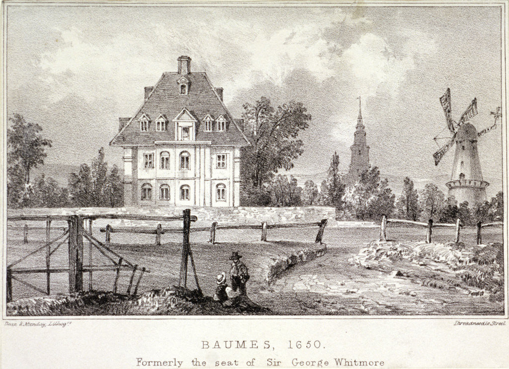 Detail of View of Baumes House, Hoxton, London, c1830? by