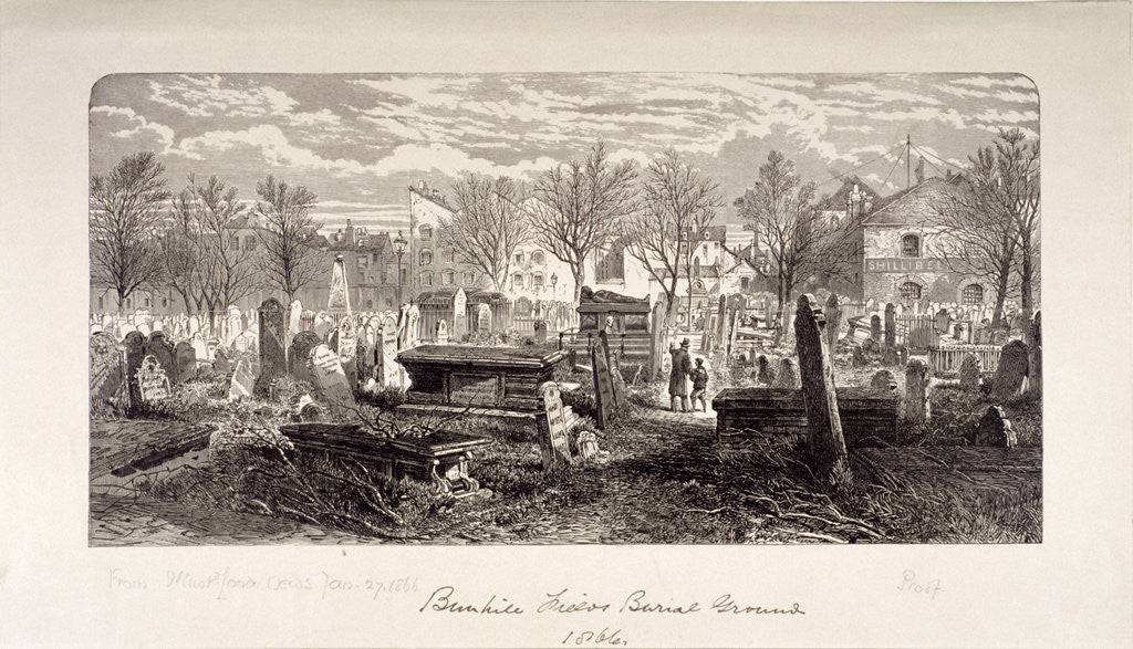 Detail of Cemetery at Bunhill Fields, Finsbury, London by