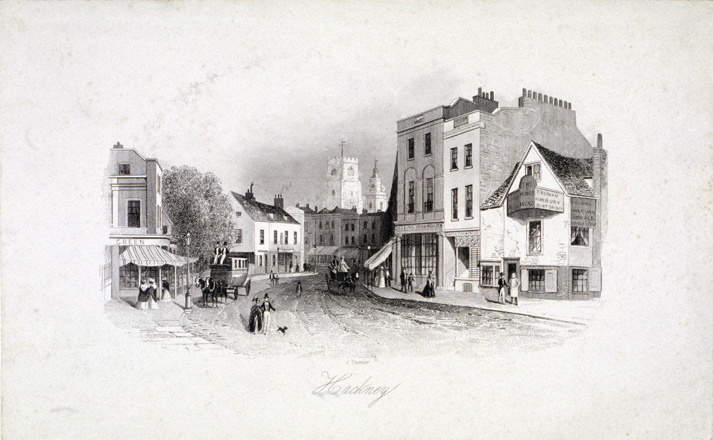 Detail of View of Mare Street, Hackney, London by