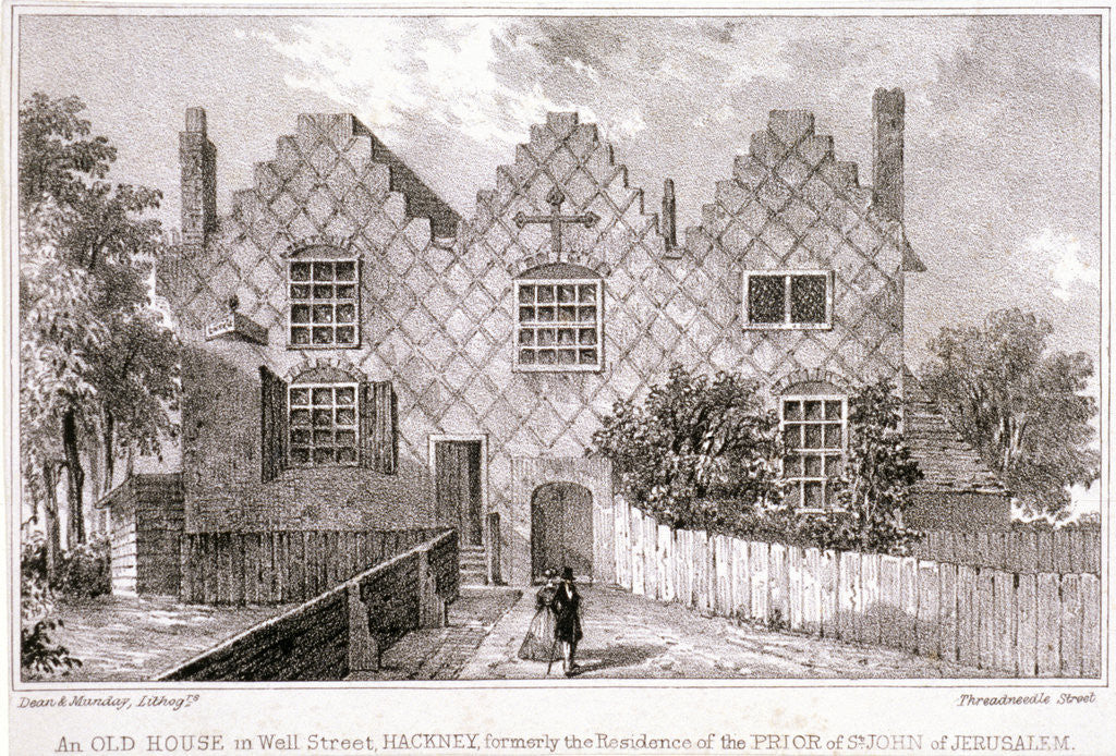 Detail of View of a house in Wells Street, Hackney, London by Anonymous