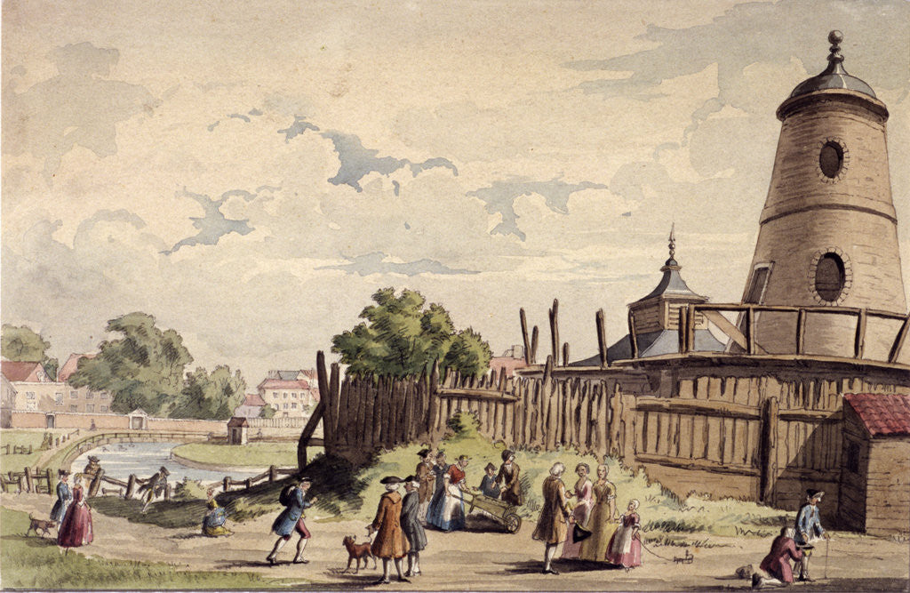 Detail of View of New River Head, Finsbury, London by Anonymous