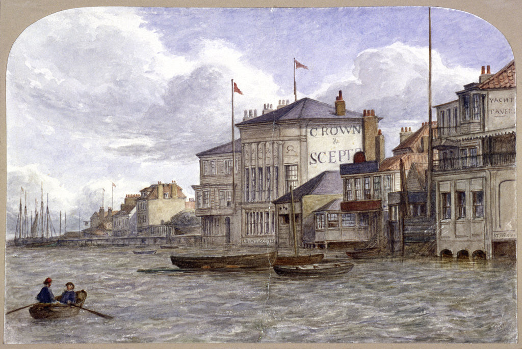 Detail of View of the Crown And Sceptre Inn, Greenwich, London by