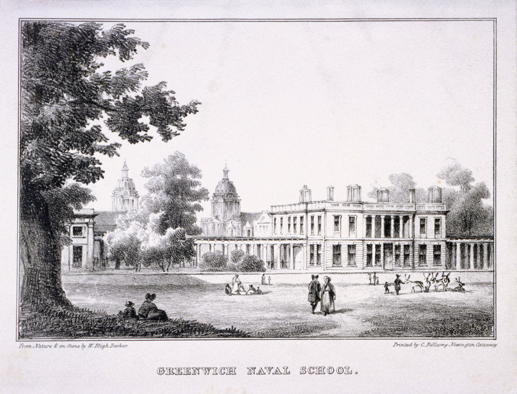 Detail of The Royal Hospital School, Greenwich, London by W Bligh Barker