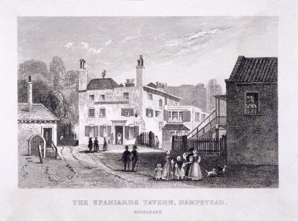 Detail of The Spaniards Inn, Hampstead Heath, Hampstead, London by