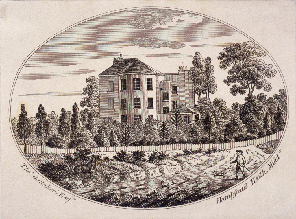 Detail of Hill House, Hampstead Heath, Hampstead, London by