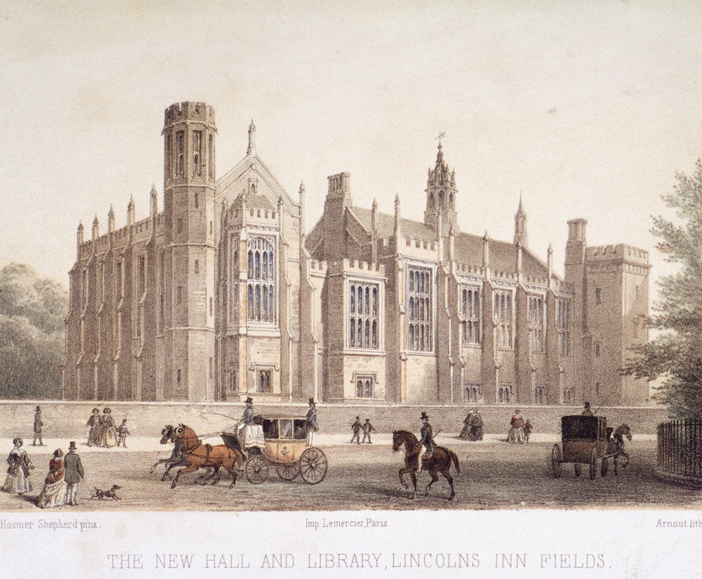 Detail of Lincoln's Inn, Holborn, London by