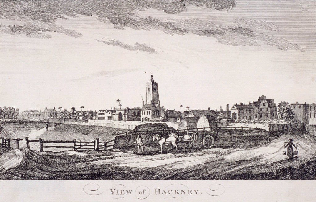 Detail of General view of Hackney, London by