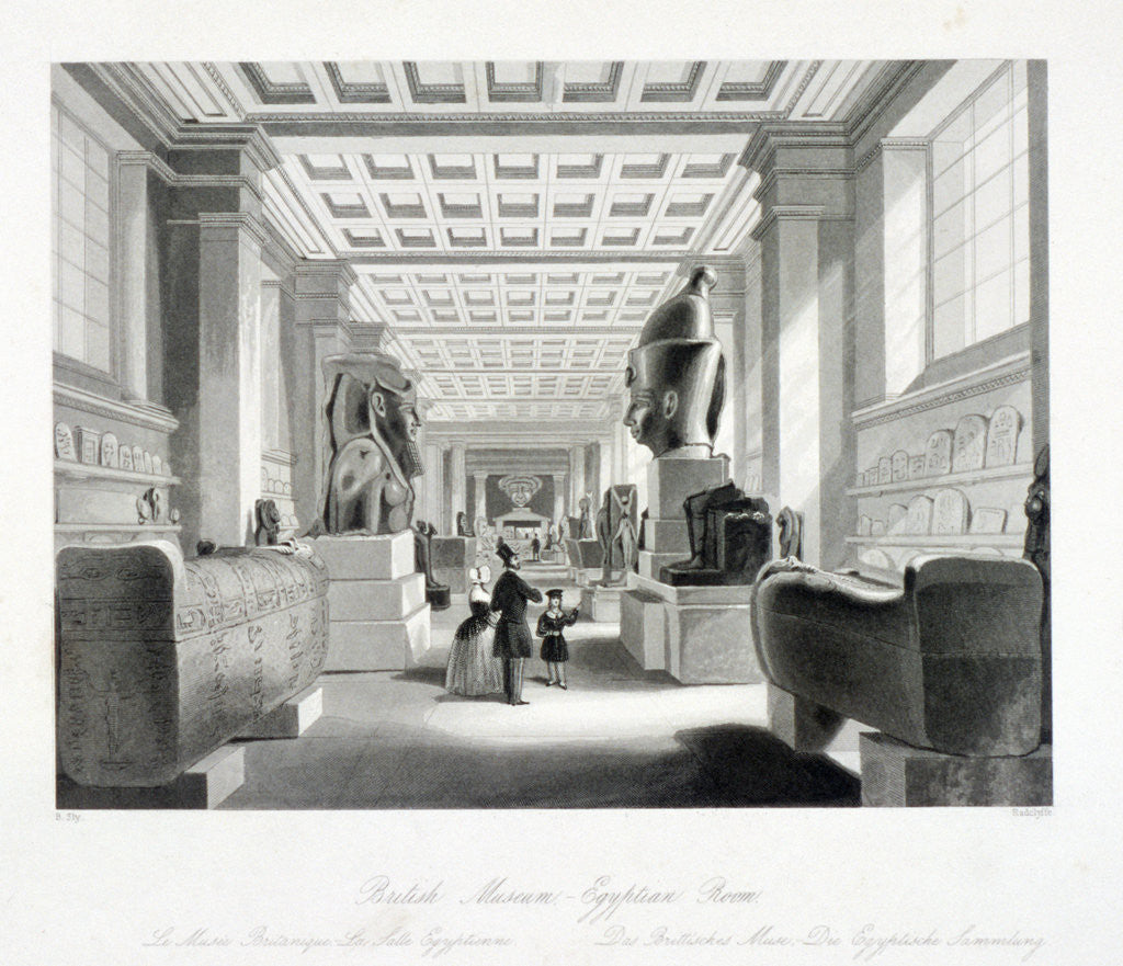 The Egyptian Room, British Museum, Holborn, London by