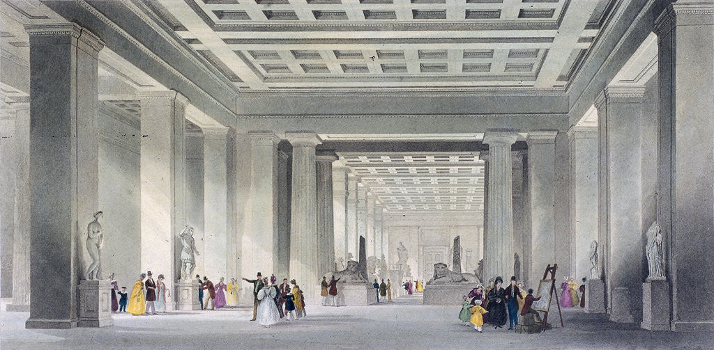 Detail of The Grand Central and Egyptian Saloons, British Museum, Holborn, London by Robert Sands