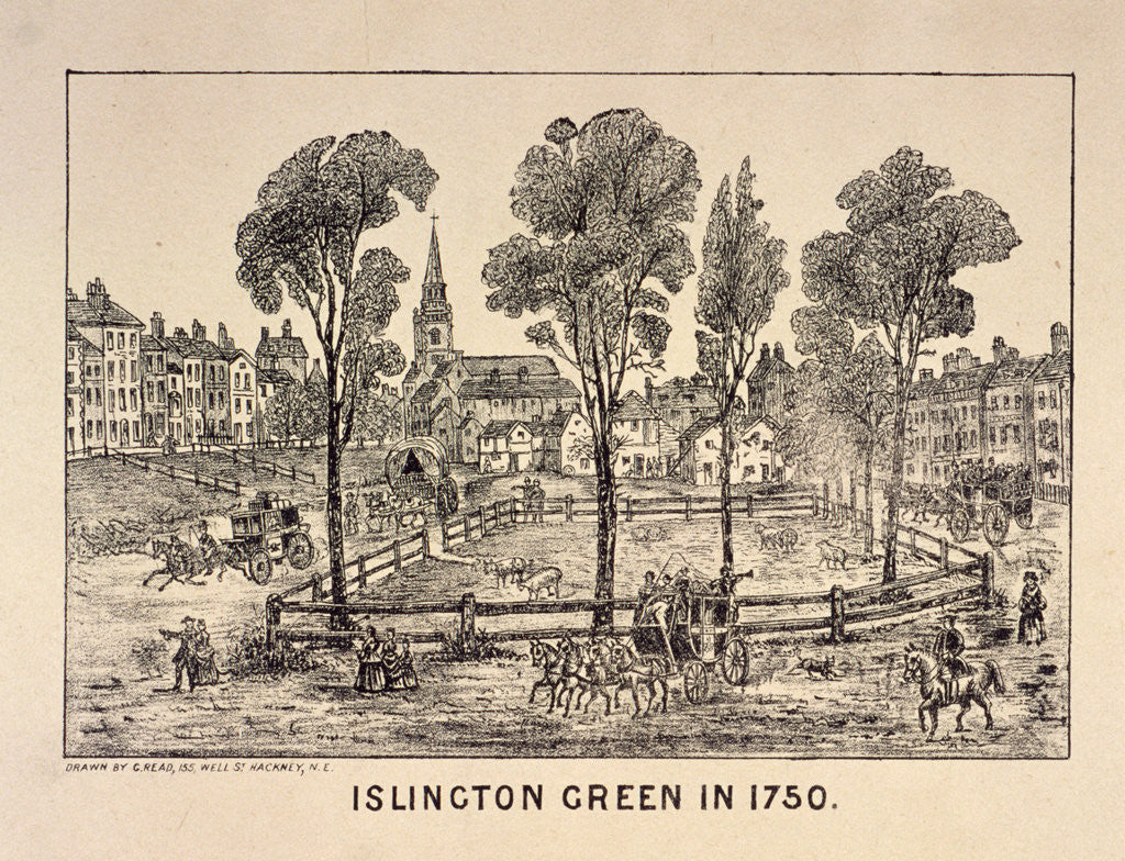 Detail of Islington Green, London by Anonymous