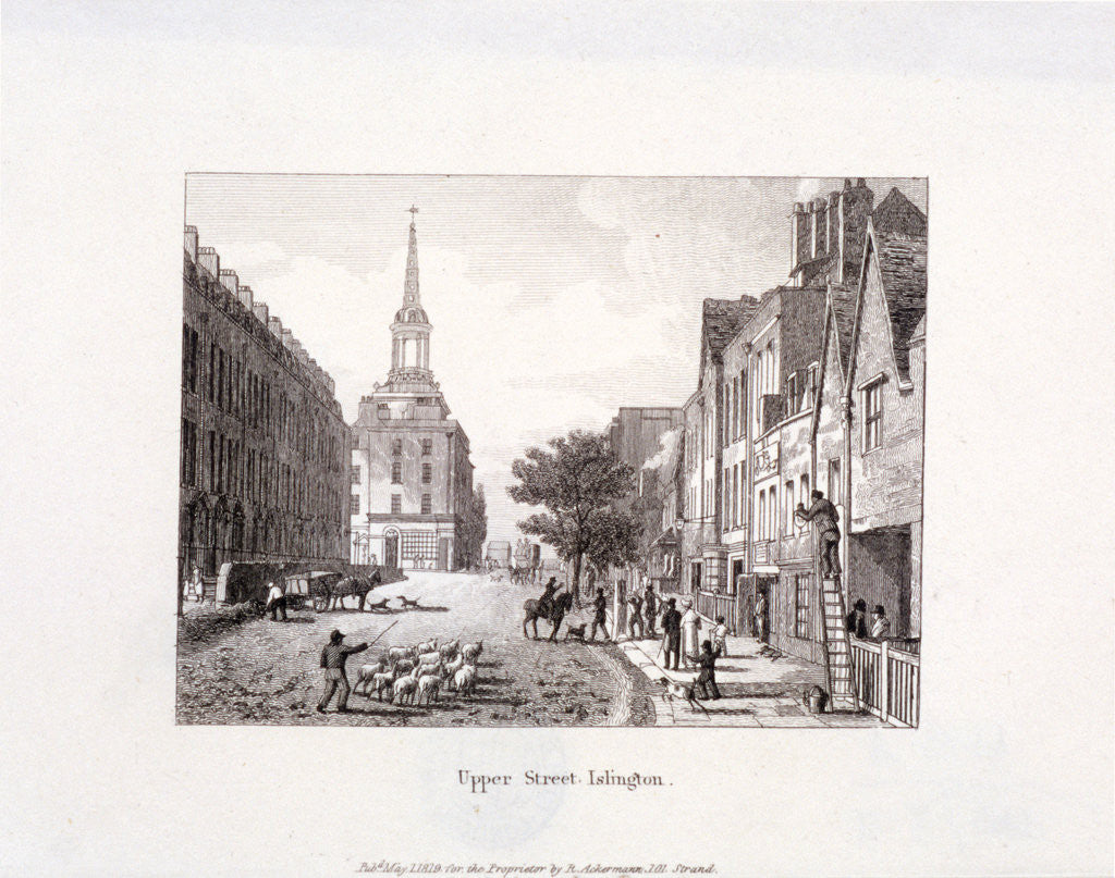 Detail of Upper Street, Islington, London by Anonymous