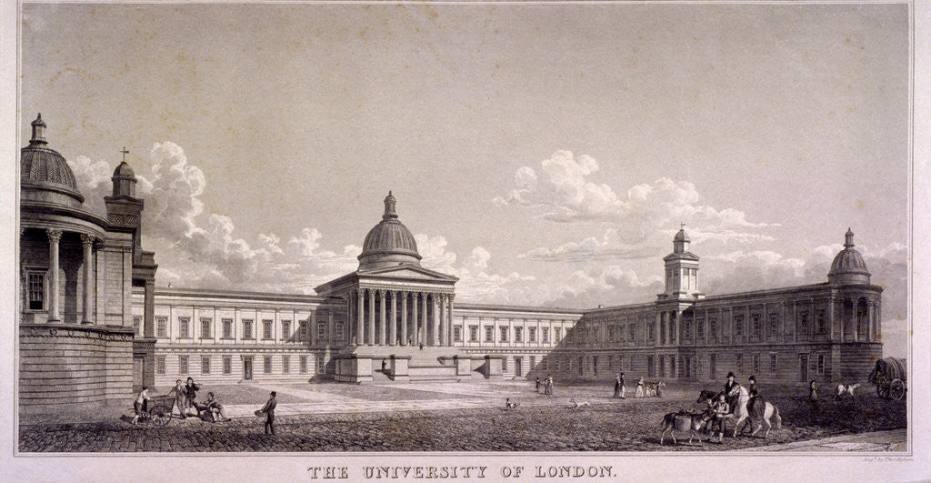 Detail of The University of London, Gower Street, St Pancras, London by