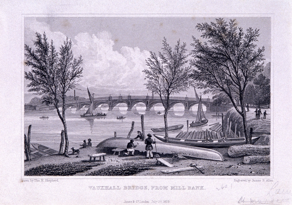 Vauxhall Bridge, Lambeth, London by