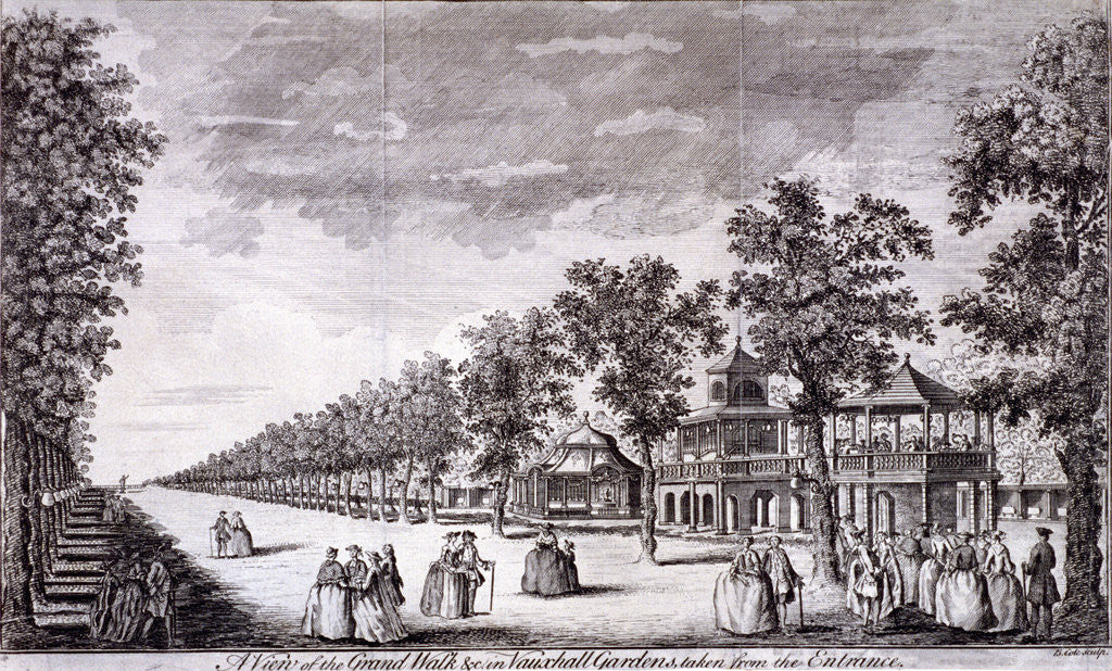 Detail of Vauxhall Gardens, Lambeth, London by Edward Rooker