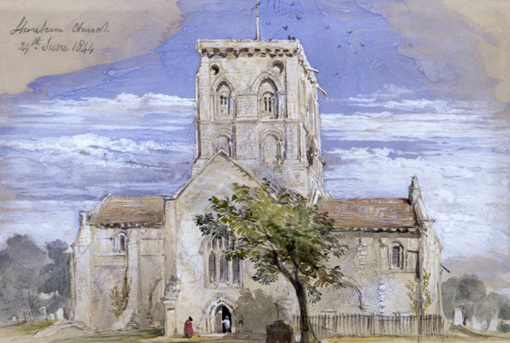 Detail of Shoreham Church, Kent by Sir John Gilbert