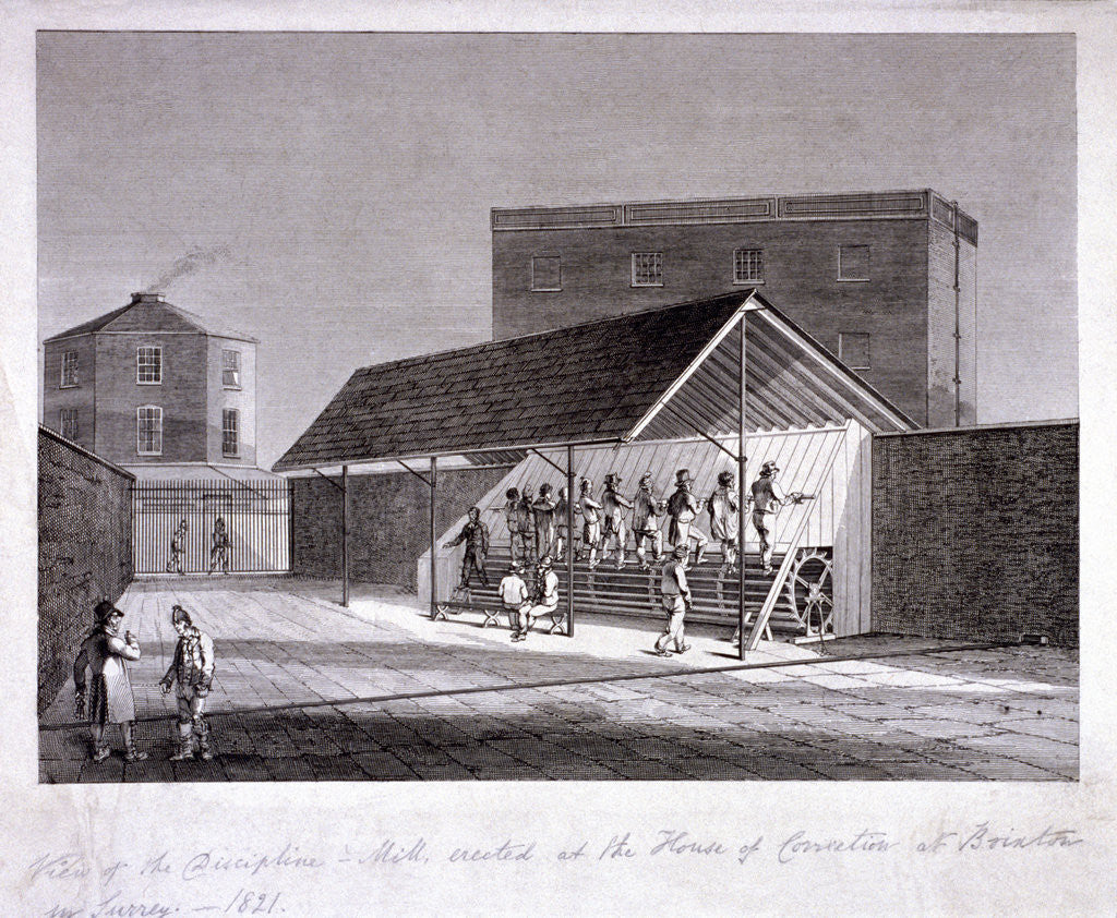 Detail of The Discipline Mill at Brixton Prison, Lambeth, London, 1821 by