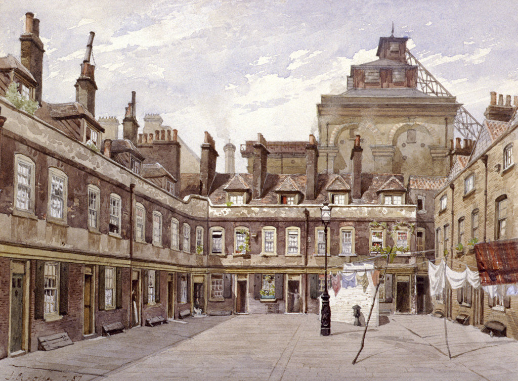 Detail of Haberdashers' Square, London by John Crowther