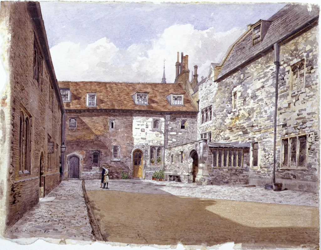 Detail of Wash house court, Charterhouse, London by