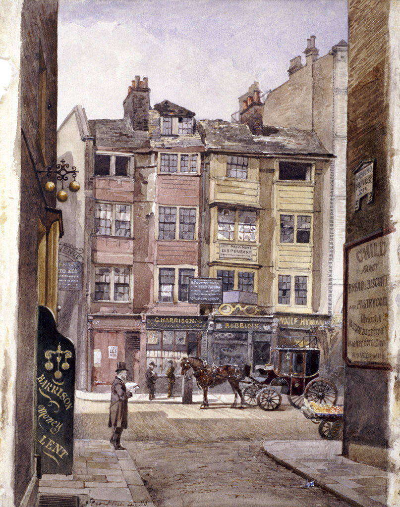 Detail of Aldersgate Street, London by John Crowther