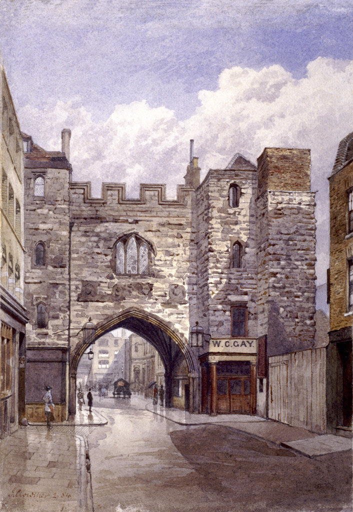 Detail of St John's Gate, Clerkenwell, London by John Crowther