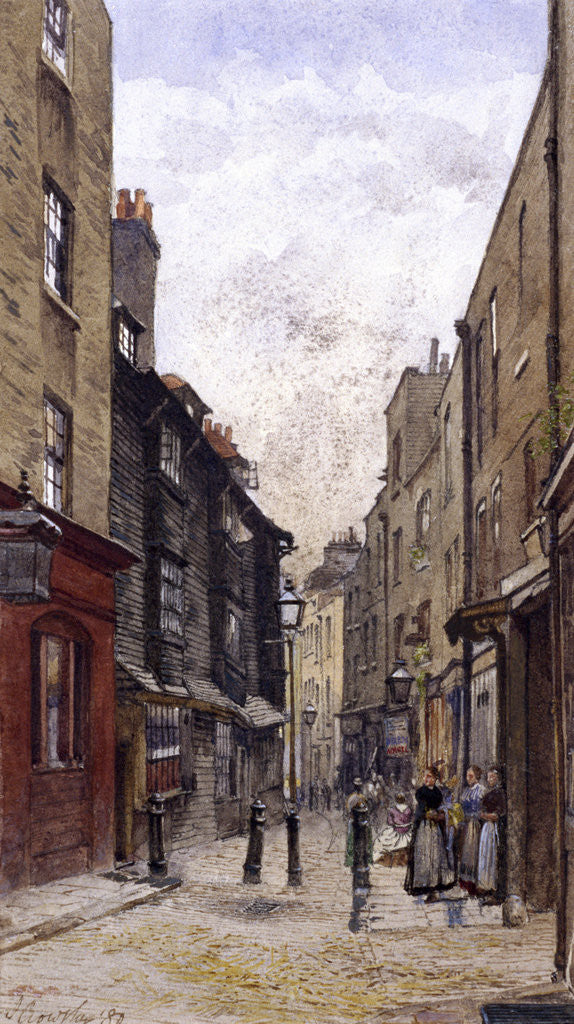 Detail of Peter's Lane, Clerkenwell, London by John Crowther