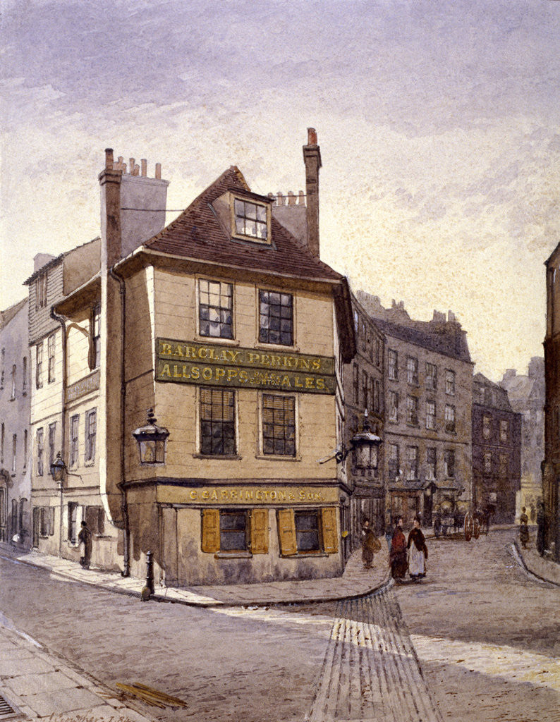 Detail of Northumberland Head Inn, Stepney, London by John Crowther