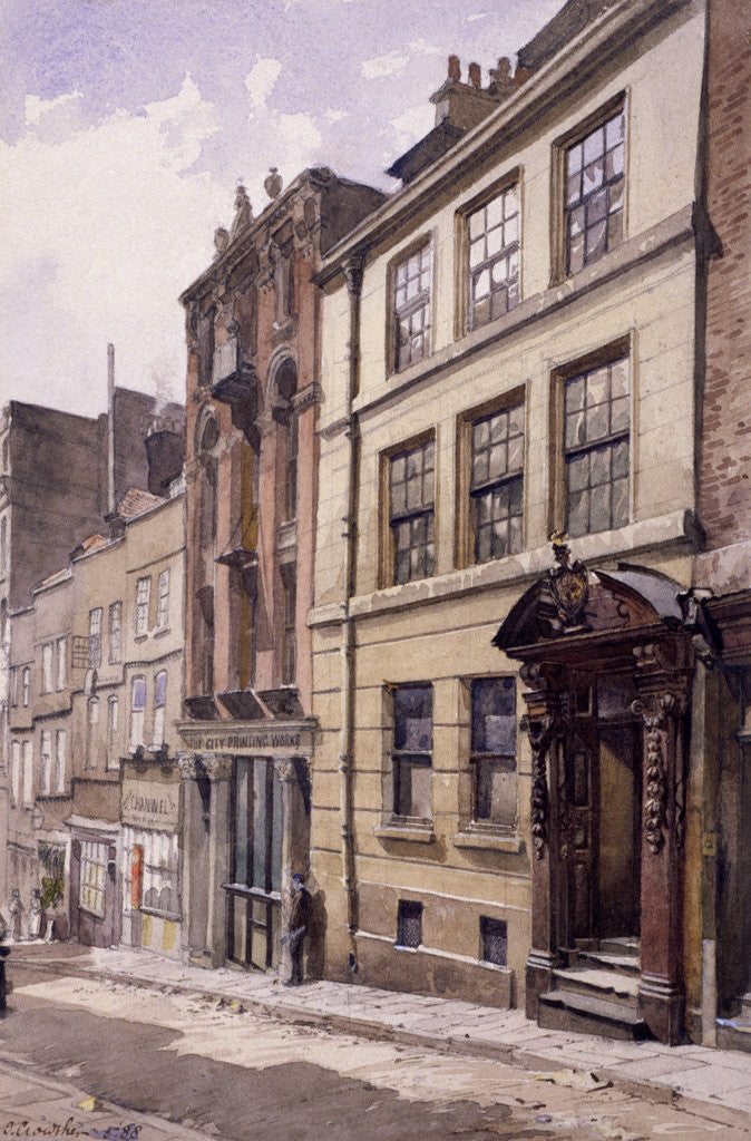Detail of Painter-Stainers' Hall, Little Trinity Lane, London by John Crowther