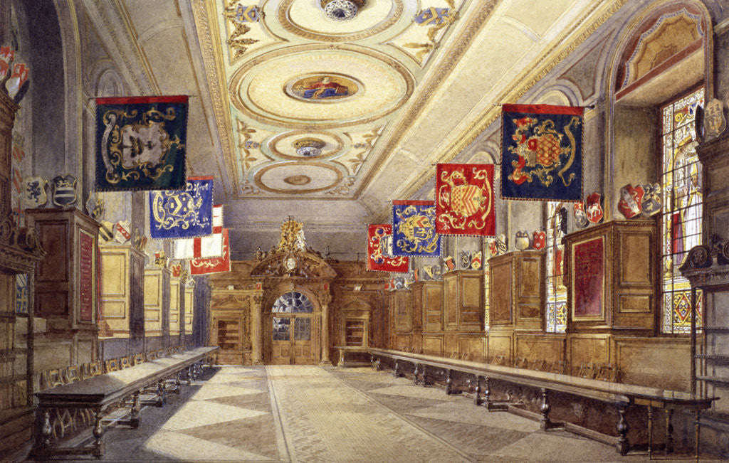 Detail of Interior of Stationers' Hall, London by John Crowther