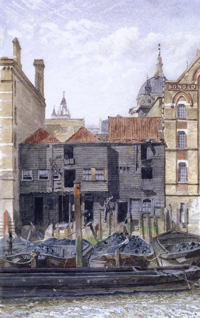 Detail of Paul's Wharf, London by John Crowther