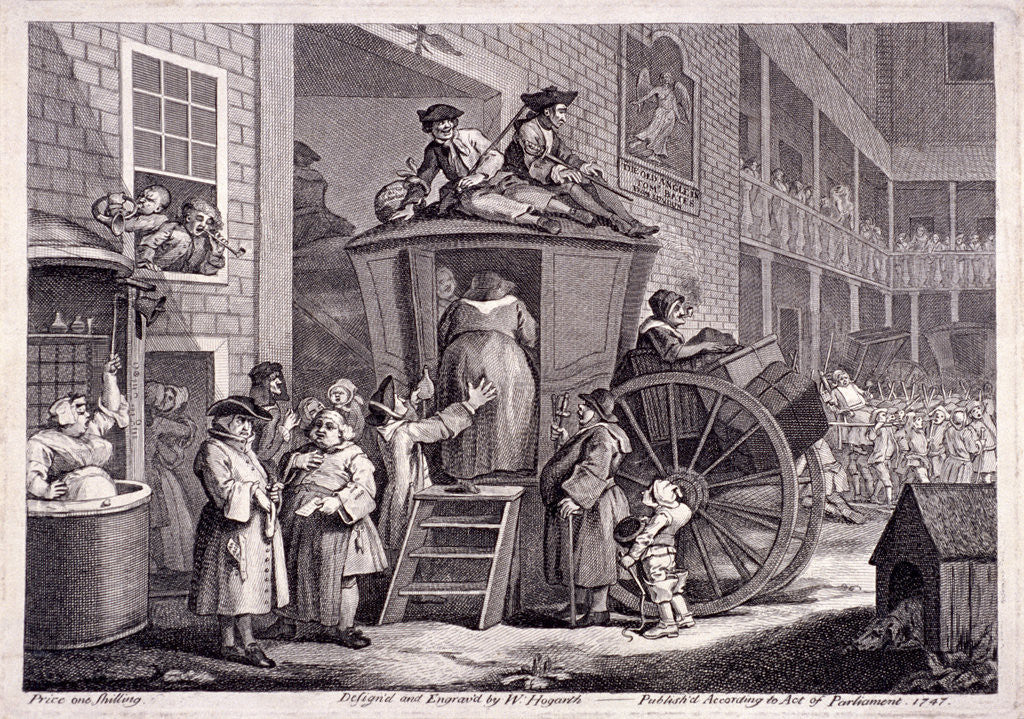 Detail of The stage-coach, or the country inn yard by William Hogarth