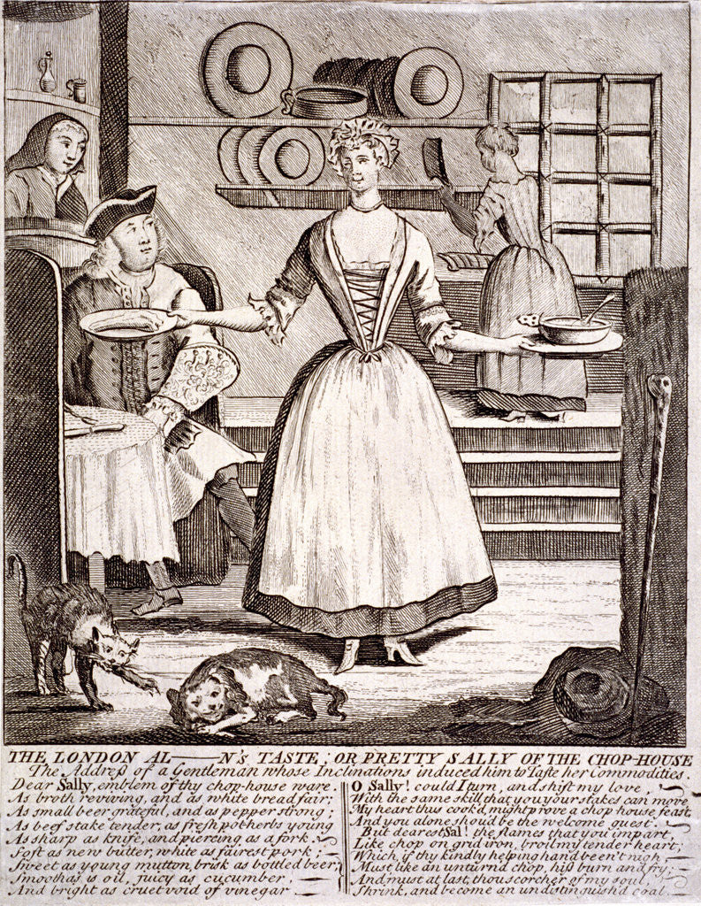 Detail of The London al - n's taste, or pretty Sally of the chop-house by Anonymous