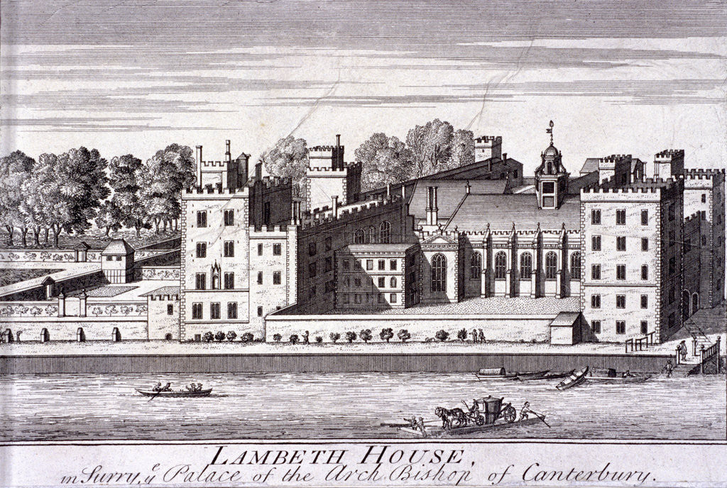 Detail of Lambeth Palace, London by Anonymous