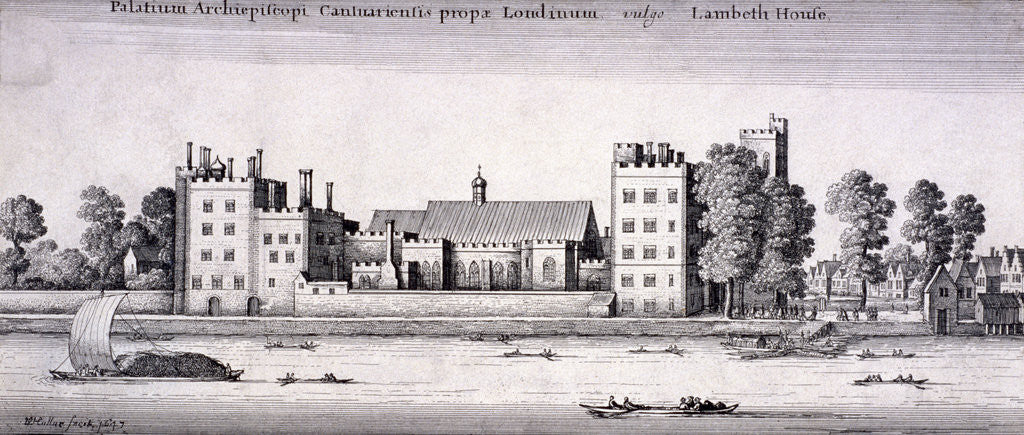 Detail of Lambeth Palace, London by Wenceslaus Hollar