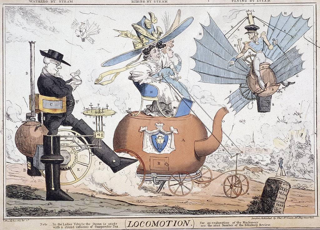 Detail of Locomotion, London by George Cruikshank