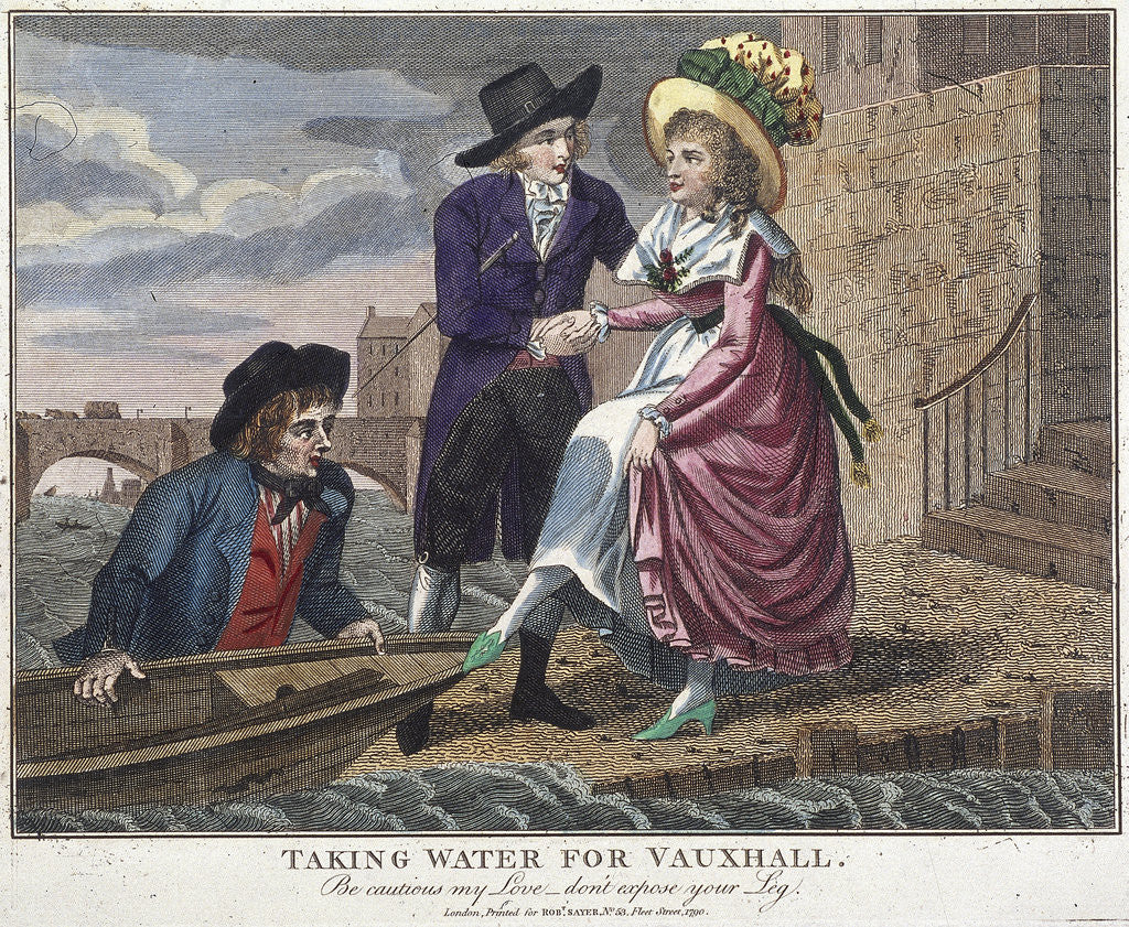 Taking water for Vauxhall, be careful my love, don't expose your leg, London by