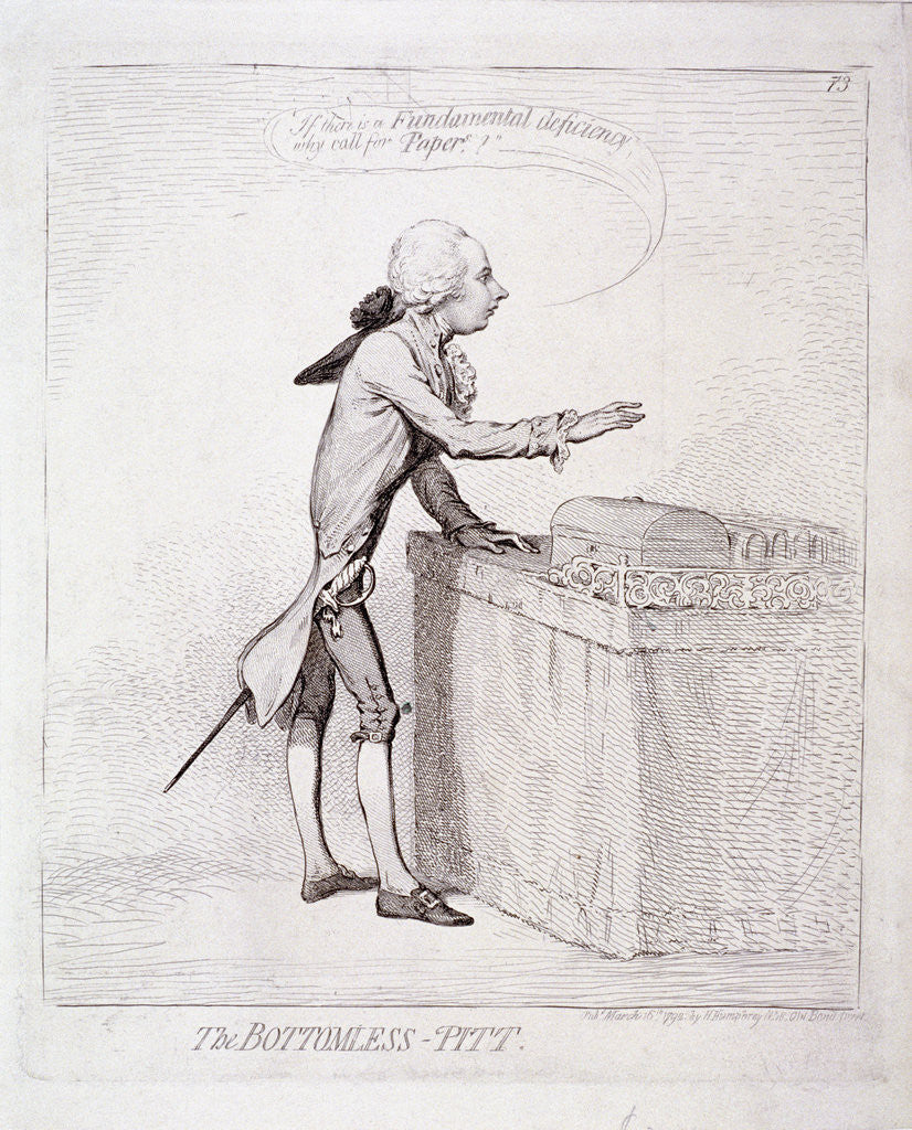 Detail of The bottomless-Pitt' , Pitt making a speech, London by Anonymous
