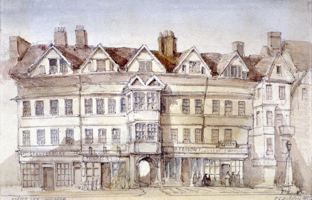 Detail of Staple Inn, Holborn, London by Thomas Colman Dibdin