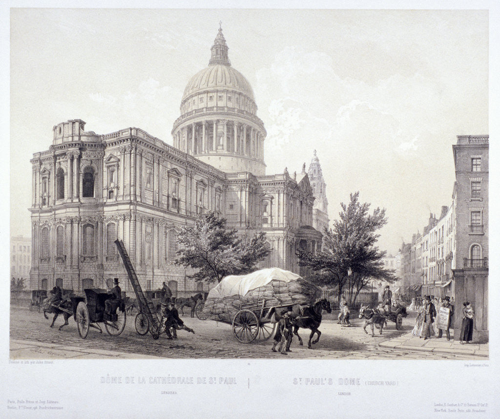 Detail of St Paul's Cathedral, London by Jules Louis Arnout