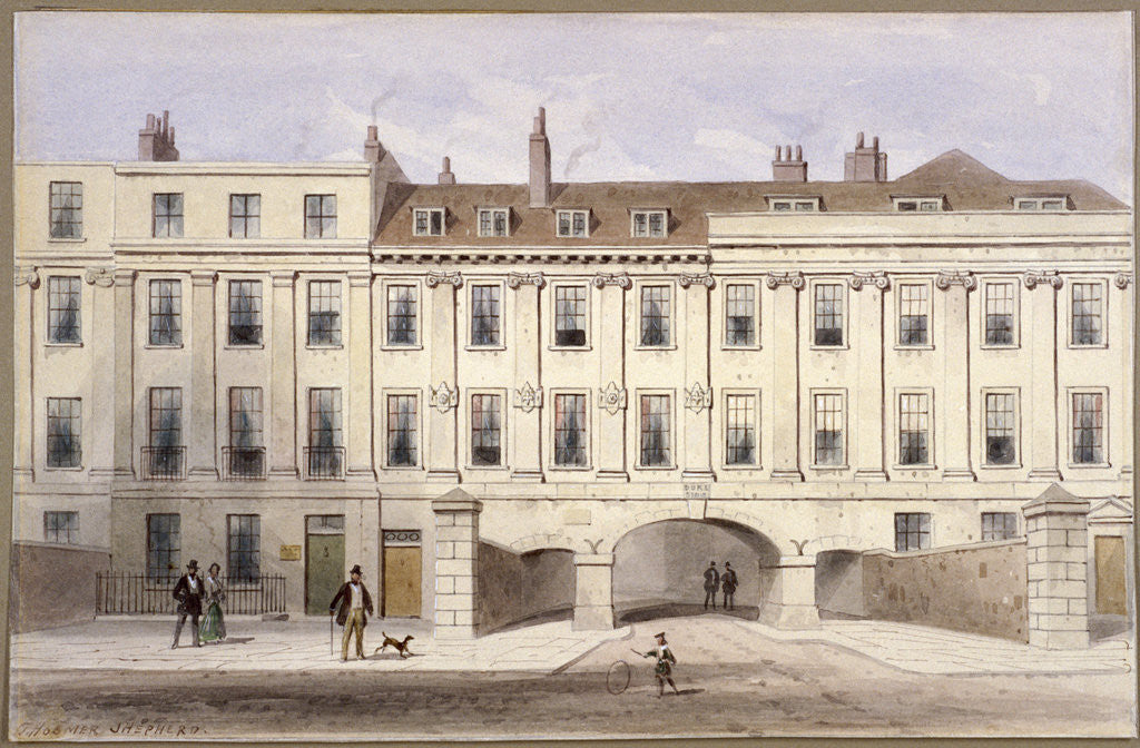 Lincoln's Inn Fields, Holborn, London by Thomas Hosmer Shepherd