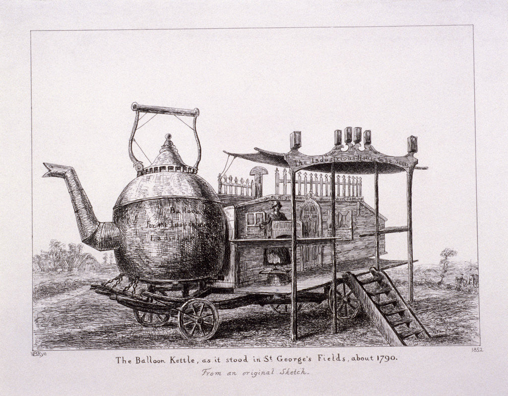 Detail of The Balloon Kettle, St George's Fields, Southwark, London by Anonymous