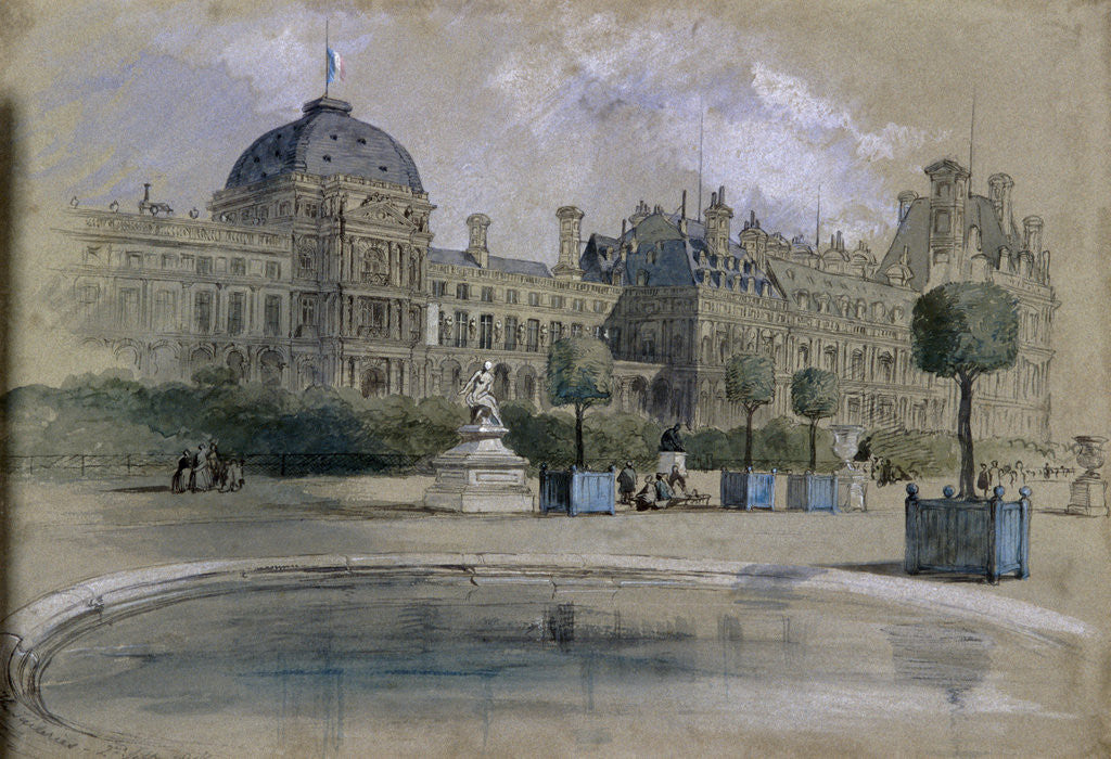 Detail of The Tuileries, Paris, France by Sir John Gilbert