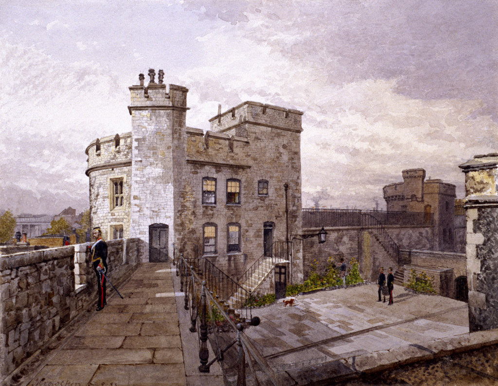 Detail of Tower of London, London by John Crowther