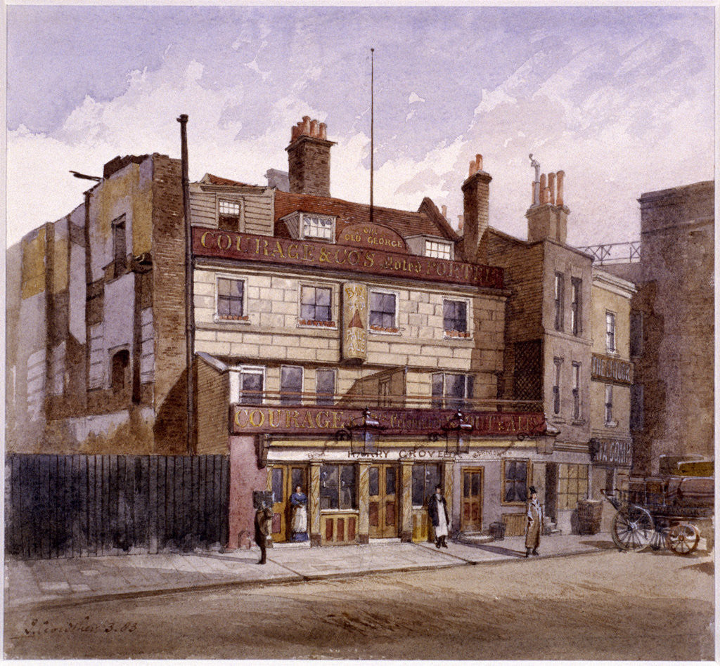 Old George Inn, Trinity Square, London by John Crowther