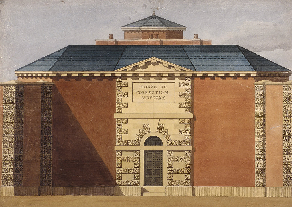 Detail of View of Cold Bath Fields Prison. Finsbury, Islington, London by Anonymous