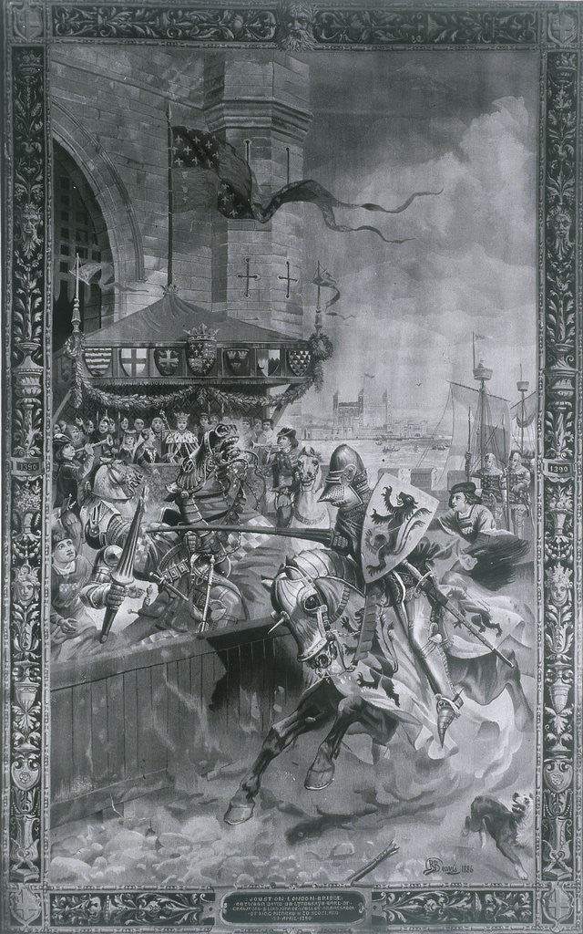 Detail of Solemn Joust on London Bridge by