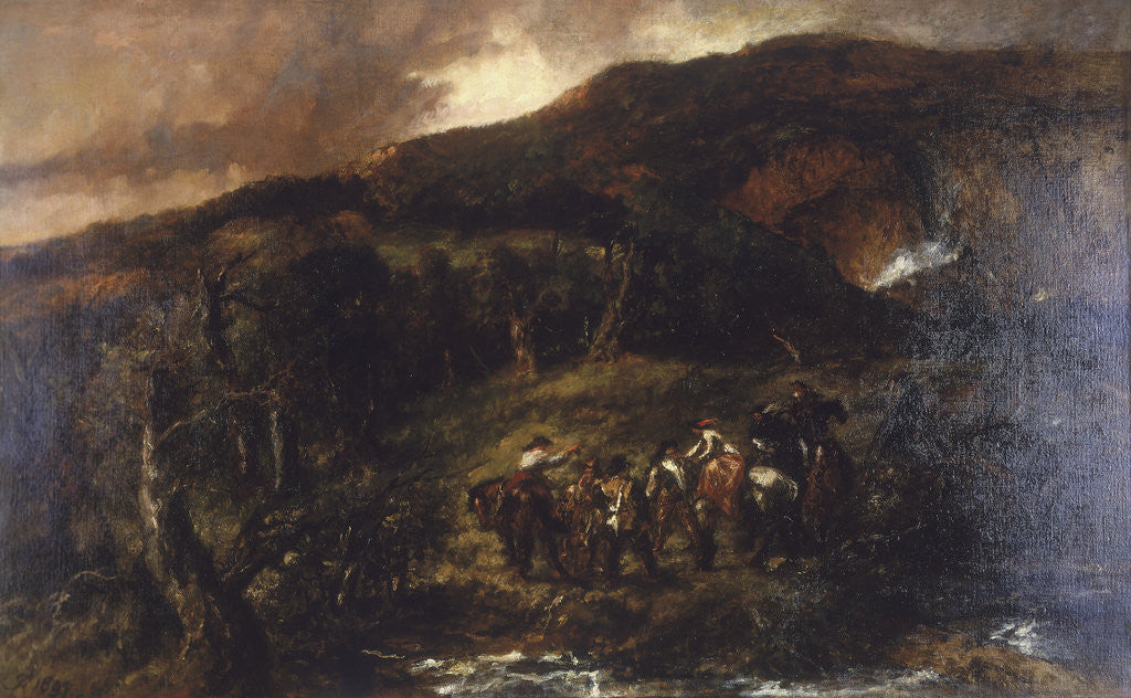 Detail of Landscape with Hunting Party by