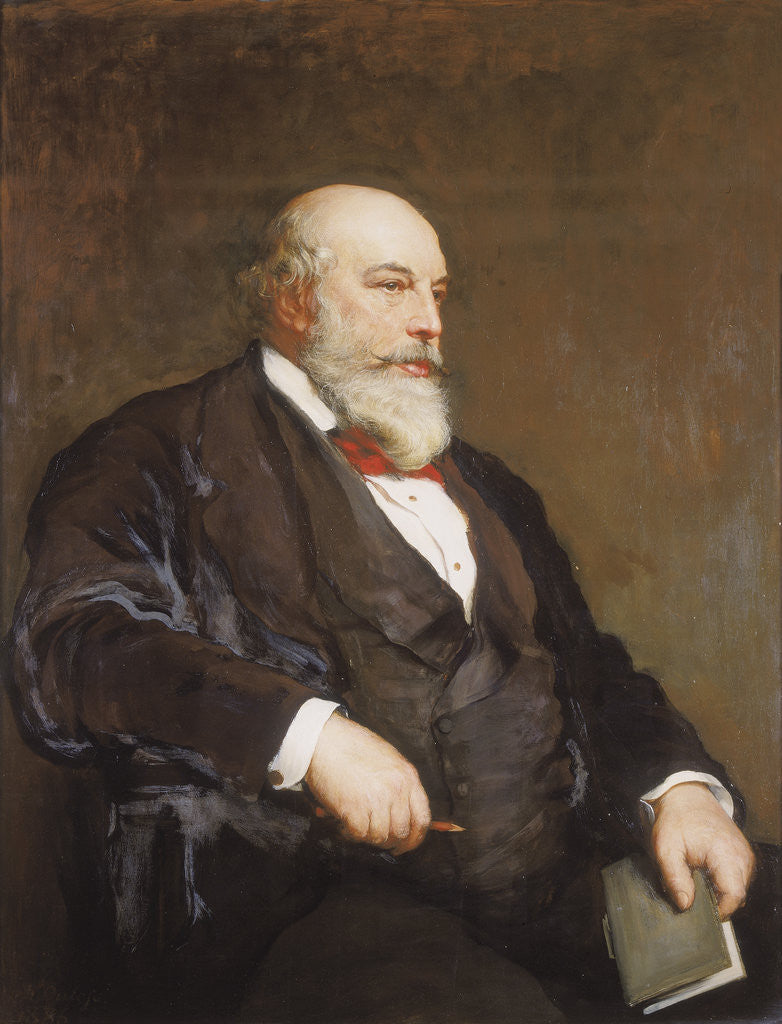 Detail of Sir Horace Jones by Walter William Ouless
